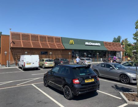 Exterior View of McDonalds Letchworth Garden City