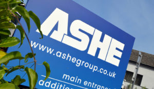 Ashe entrance sign