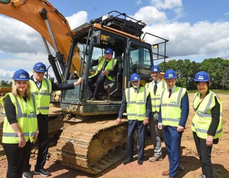 Ashe team commencing work at Warth Park Industrial Estate