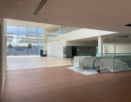 Inside view of Jaguar Land Rover Dealership