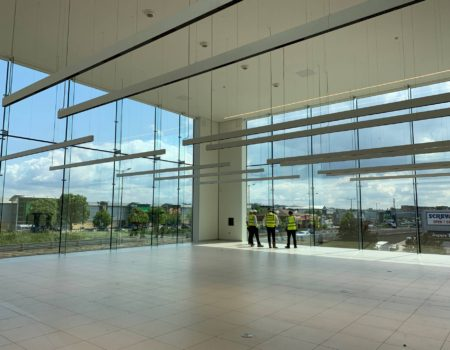 Inside view of the JLR Dealership