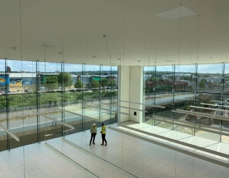 Inside view of the new Jaguar Land Rover Dealership