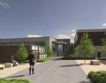 Mockup view of Campion School project