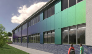Mockup of Campion School in Leamington Spa